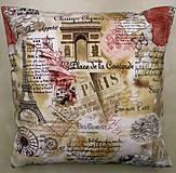 Úžitkový textil - Povlak na vankúš - Paríž - 4399711_