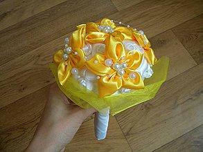 Kytice pre nevestu - Malá kytička-žltá - 4398307_