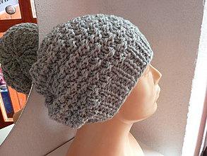Čiapky - pletená čiapka MIŠKA - 4402427_
