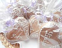 Darčeky pre svadobčanov - Medovníková menovka Monika - 4404355_