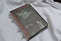 Papiernictvo - učiteľký zápisník veľký Back to school! - 4401810_