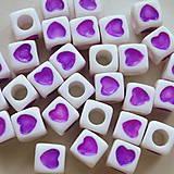 - Plast srdce 7x7mm-fial-1ks - 4403643_