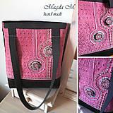 Veľké tašky - Kabelko-taška v staroružovom šate - 4404457_
