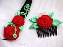 textilná čelenka s kvetmi