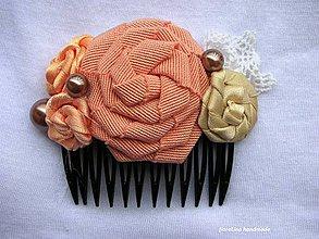 Ozdoby do vlasov - hrebienok do vlasov - marhuľový - 4401048_