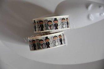 Papier - washi paska kreslena svadba - 4406930_