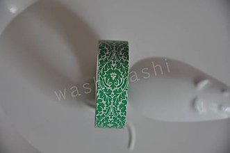 Papier - washi paska zeleny ornament - 4408382_