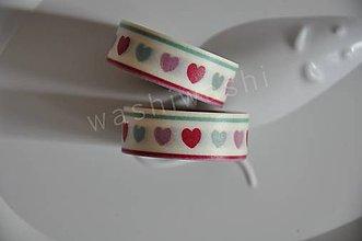 Papier - washi paska srdcia 2 - 4408693_