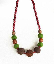 Náhrdelníky - Plstený náhrdelník