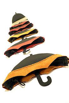 Taštičky - Kožené deštníkové klíčenky - 4410548_