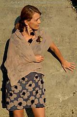 Šaty - Plstené hodvábne šaty  s 3 variabilnými doplnkami - 4408952_