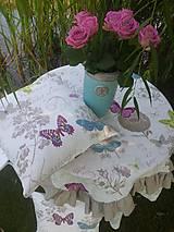 Úžitkový textil - Ľanová obliečka Butterfly - 4410914_