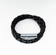 Šperky - Pánsky náramok -vintage black - 4415068_