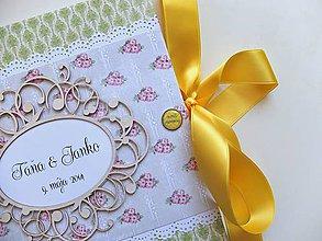 Papiernictvo - Svadobná kniha hostí - 4412942_