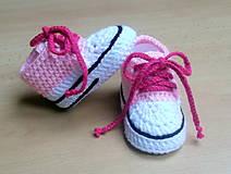 Topánočky - Háčkované tenisky - 4413281_