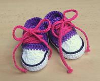 Topánočky - Háčkované tenisky - 4413283_