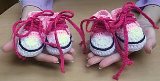 Topánočky - Háčkované tenisky - 4413284_