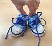 Topánočky - Háčkované tenisky - 4413285_