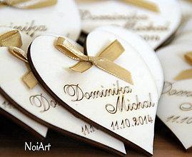 Darčeky pre svadobčanov - Svadobné magnetky srdiečko - 4412875_