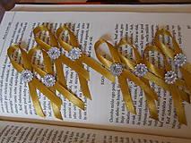 Pierka - svadobné pierko zlaté - 4413385_