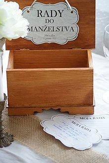 Krabičky - Rady do manželstva - 4413218_