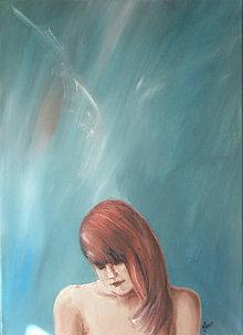 Obrazy - Dievča s anjelom - 4415501_