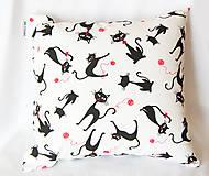 Úžitkový textil - Mačičkový vankúš - 4414063_