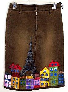 """Sukne - Veselý """"Paríž"""" na sukni - 4412832_"""