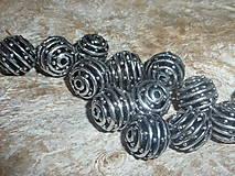 Korálky - Kovová korálka 12mm VIII - 4415301_