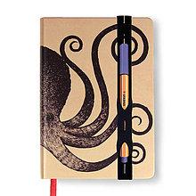 Papiernictvo - Zápisník A6 Chobotnica - 4415073_