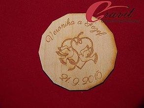Darčeky pre svadobčanov - Magnetka ako darček pre hosti 19 - 4414293_