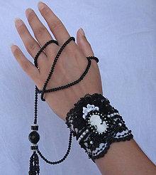 Náramky - Čierno - biela... (výpredaj) - 4414285_