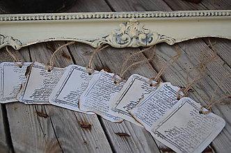 Papier - Visačky s historickým písmom - 4417486_