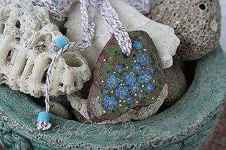Náhrdelníky - náhrdelník nezábudky - 4417656_