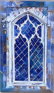 Obrazy - Modré okno - 4416898_