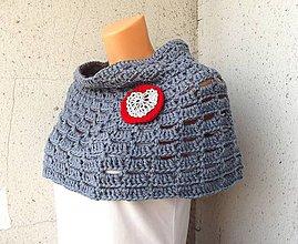 Iné oblečenie - krátke pončo s čiapkou - 4418762_