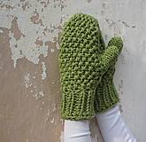 Rukavice - ruKohreje zelené, ku Kapucňošálu, Kapucke - 4418536_