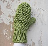 Rukavice - ruKohreje zelené, ku Kapucňošálu, Kapucke - 4418543_