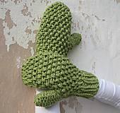 Rukavice - ruKohreje zelené, ku Kapucňošálu, Kapucke - 4418544_