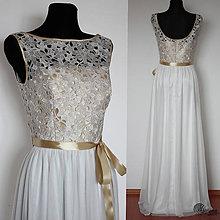 Šaty - Spoločenské šaty s tylovou sukňou a zlatým vrškom - 4419559  96065137bf7