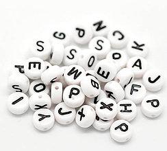 Korálky - Korálky abeceda - balíček 100ks - 4418553_