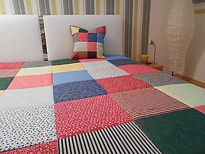 Úžitkový textil - prehoz na posteľ patchwork deka 140x200 alebo 220x220 kolor mix - 4425300_