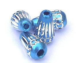 Korálky - Aluminio azuro konus - 4424606_