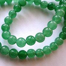 Minerály - Aventurín-1ks (zelený 6mm) - 4426161_