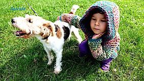 Detské oblečenie - Páslo dievča pávy. - 4424900_