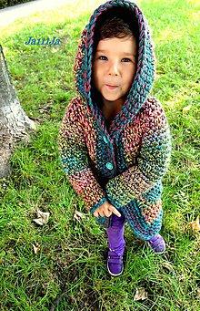 Detské oblečenie - Páslo dievča pávy.  - 4424905_