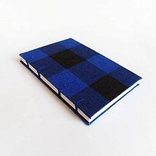Papiernictvo - Flanelový zápisník - modrý - 4429083_
