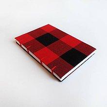 Papiernictvo - Flanelový zápisník - červený - 4429141_