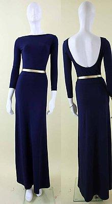 Šaty - Dlhé šaty s výstrihom na chrbte a kruhovou sukňou - 4427325_