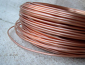 Suroviny - hliníkový drôt 2mm SOFT PEACH - 4426697_